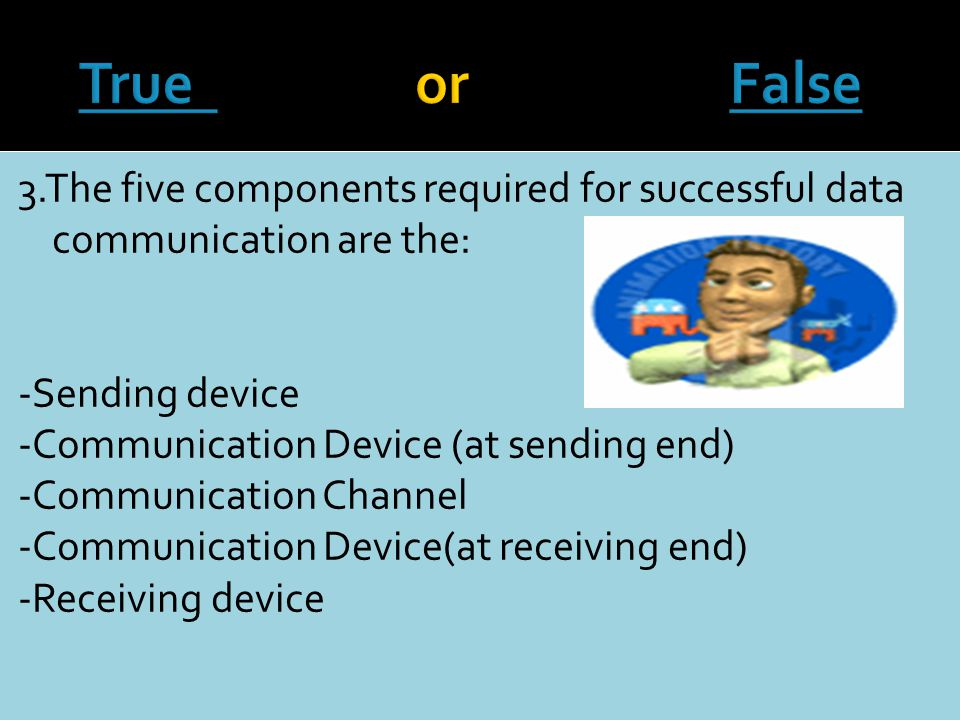 2. How many components are required for successful communication to occur.