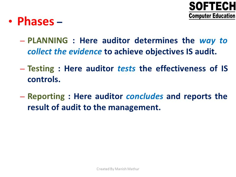 Audit Planning Planning occurs throughout the audit and includes the following activities – Obtain an understanding of the entity and its operations.