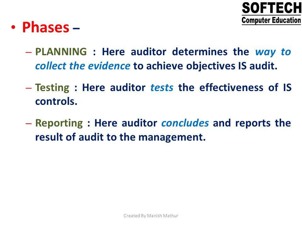 Plan audit resources.Review current multi year testing plan.