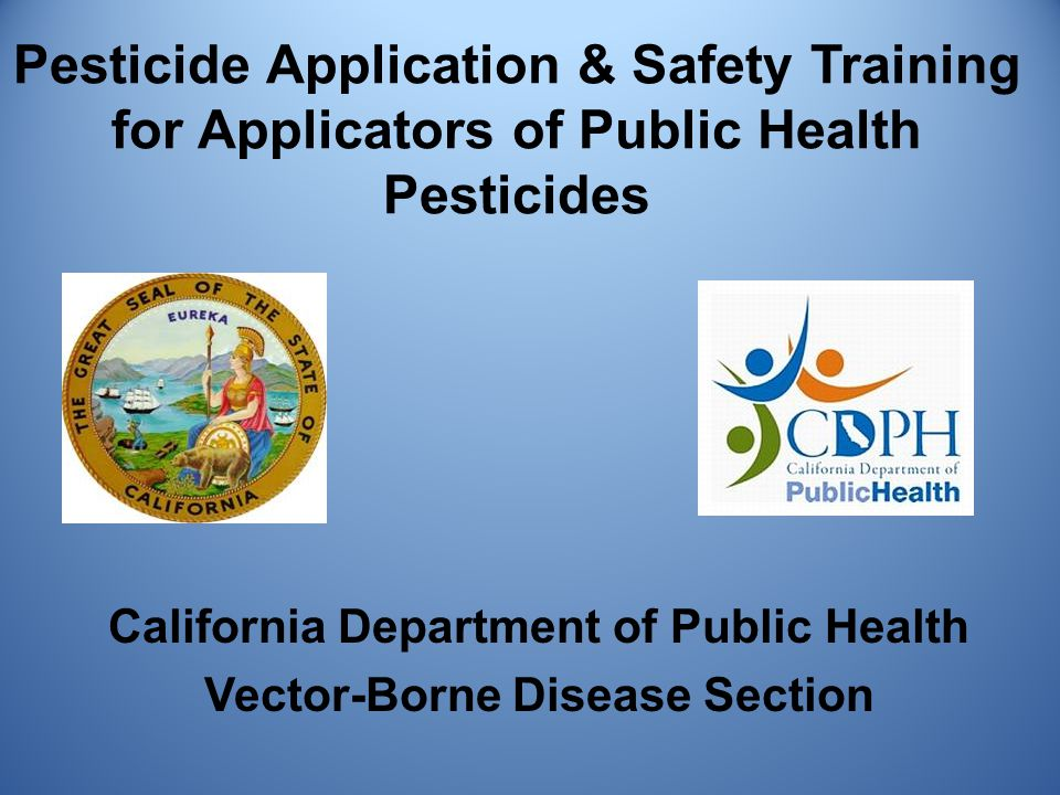 Pesticide spills that cannot easily be cleaned up and decontaminated by vector control program personnel can be reported directly to the local health officer who will in turn contact the County Agricultural Commissioner or the County Health or Environmental Health Department.