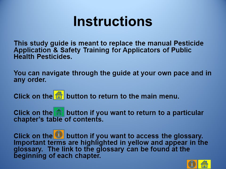 Introduction Biorational Pesticides Cultural Practices Biological Control Attractants and Repellents Genetic Control Chapter 11, slide 2/11 Chapter 11 Table of Contents