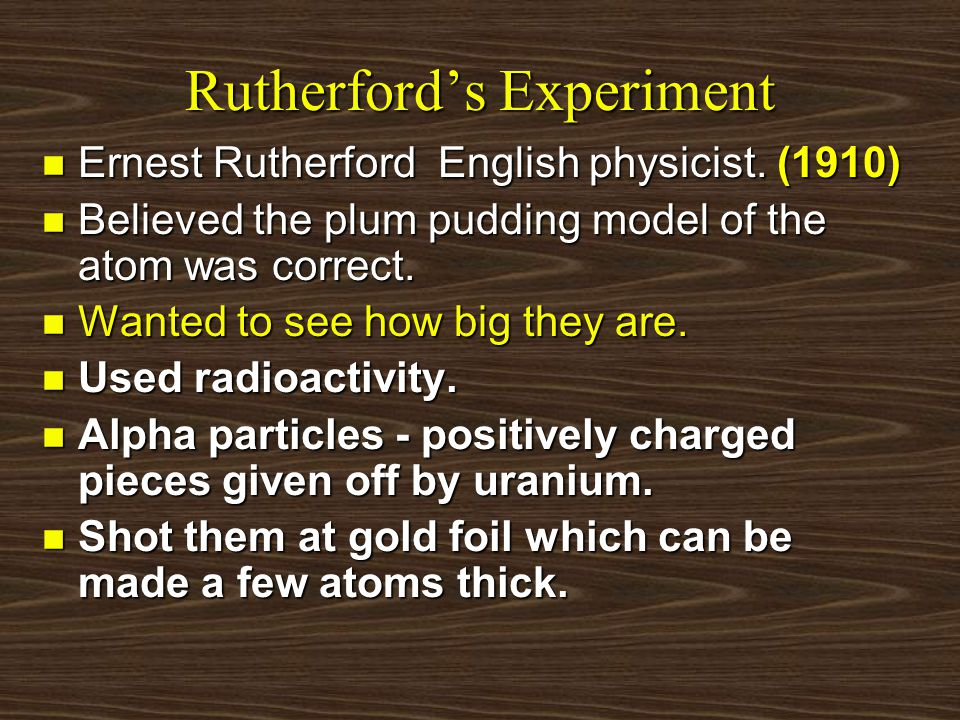 Rutherford's atom