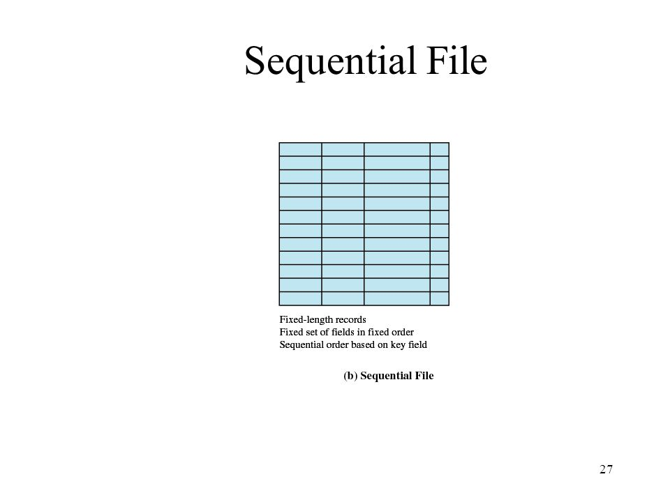 27 Sequential File