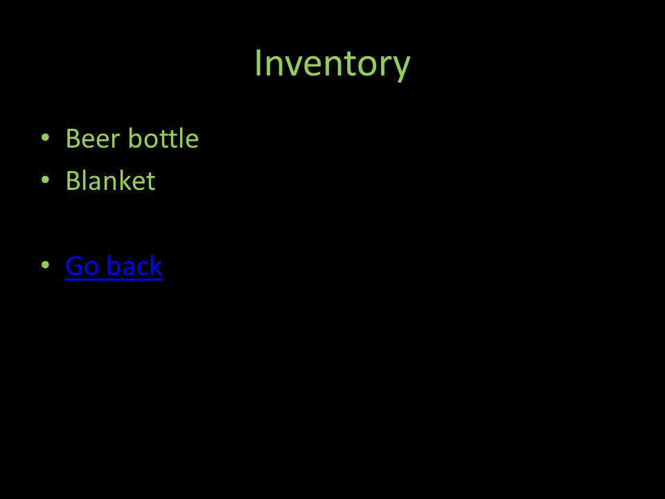 Inventory Beer bottle Blanket Go back