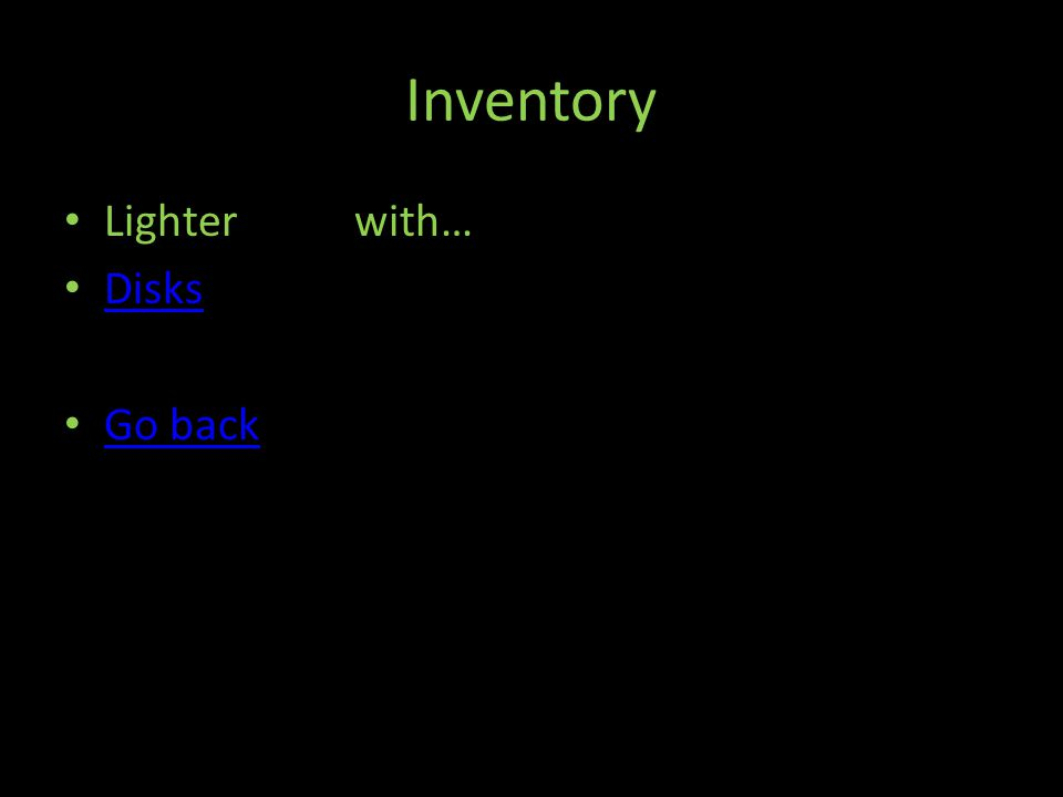 Inventory Lighter with… Disks Go back