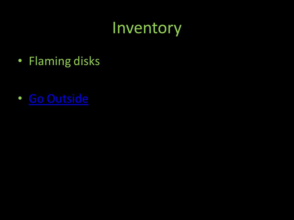Inventory Flaming disks Go Outside