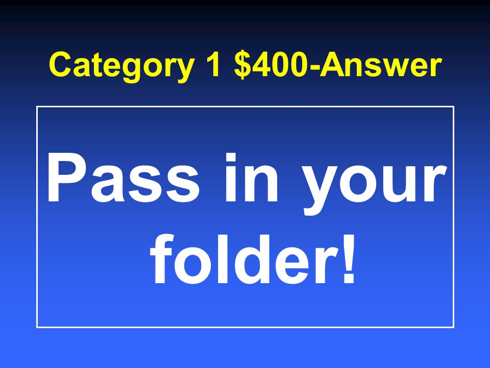 Category 1 $200-Answer A writing utensil!