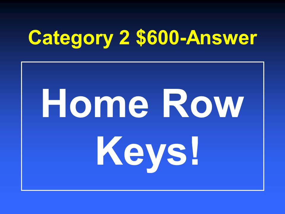 Category 2 $400-Answer Carpal Tunnel Syndrome!