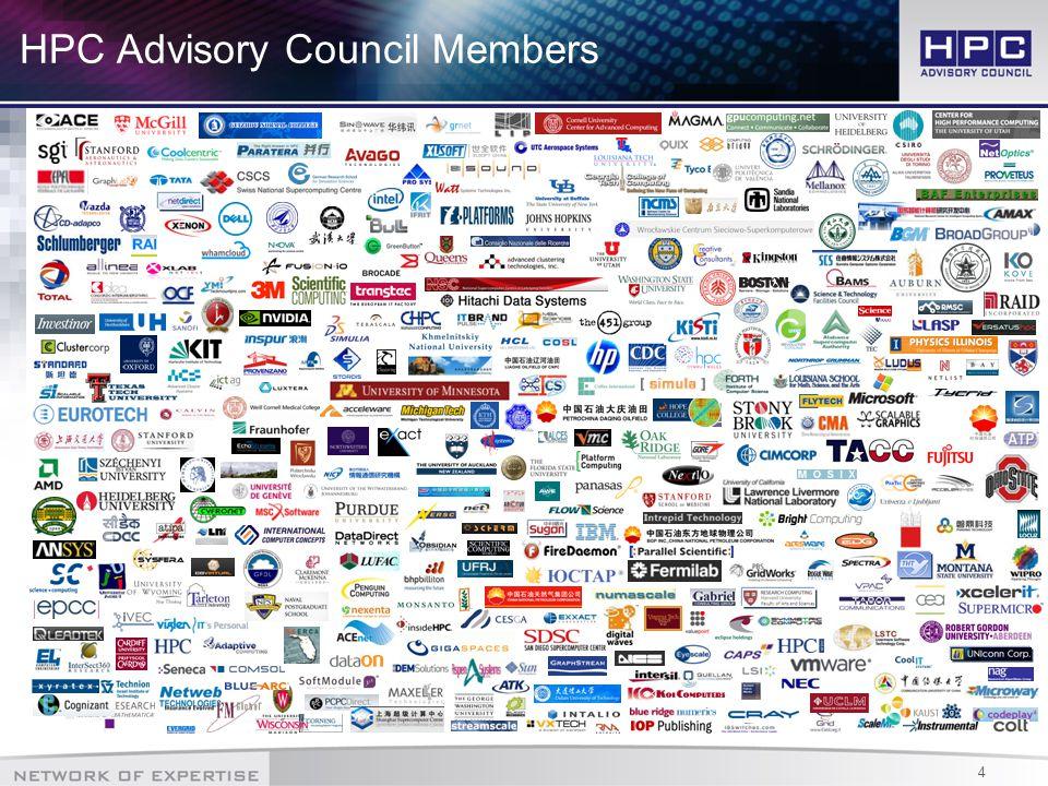 4 HPC Advisory Council Members