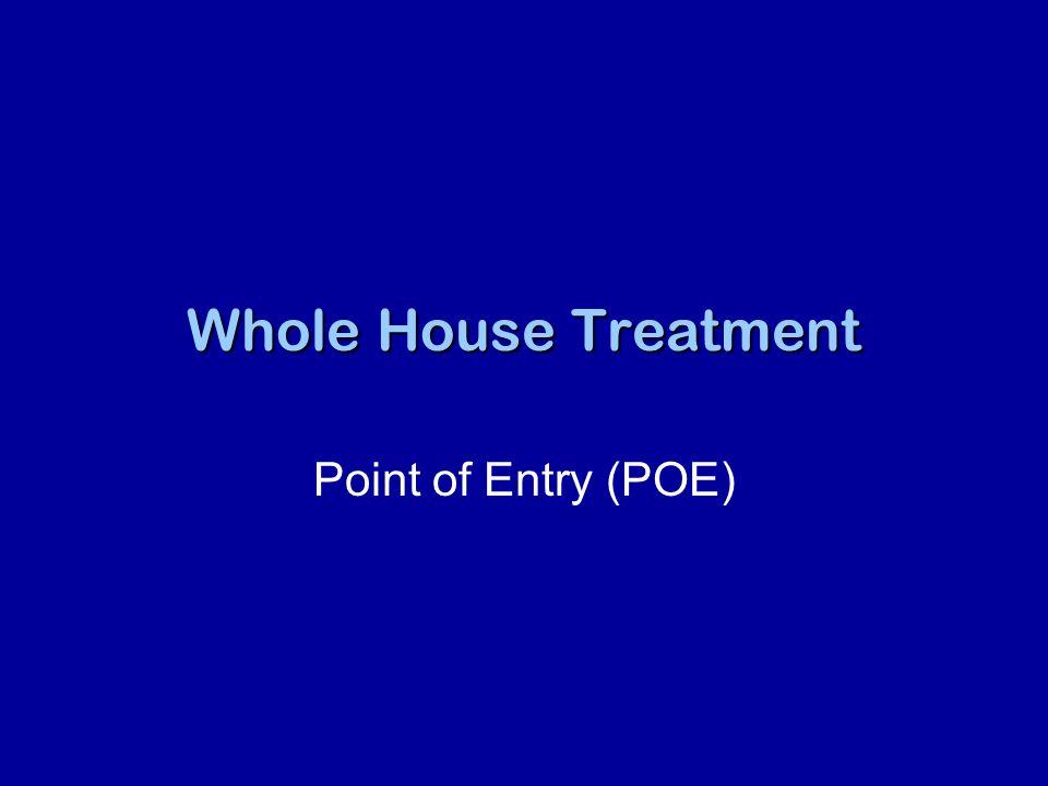 Reverse Osmosis force water through membraneforce water through membrane removes many contaminantsremoves many contaminants