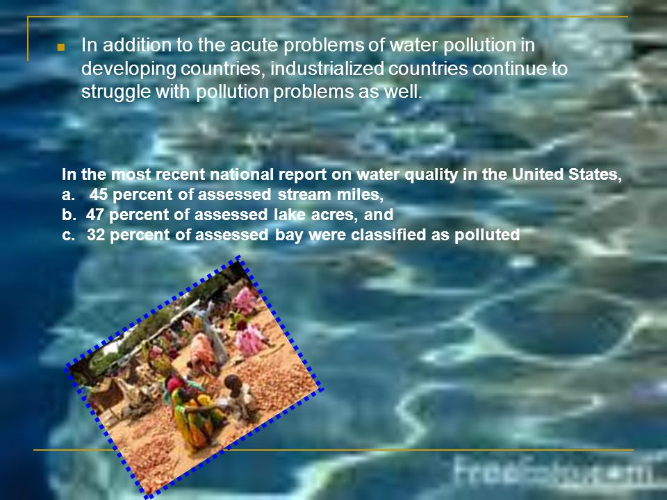 Ground Water Pollution Interactions between groundwater and surface water are complex.