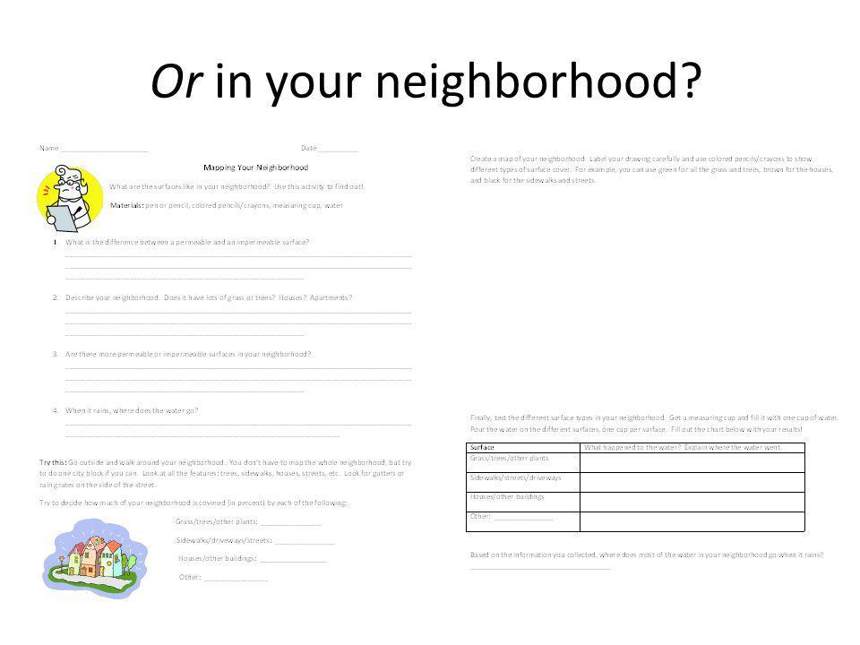 Or in your neighborhood