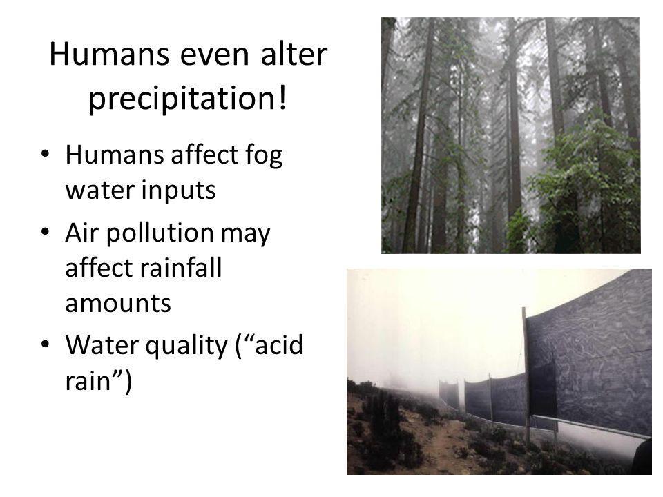 Humans even alter precipitation.