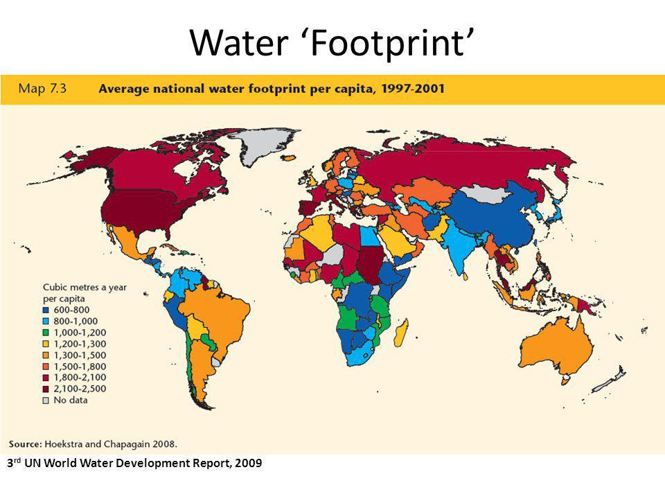 Water Footprint 3 rd UN World Water Development Report, 2009