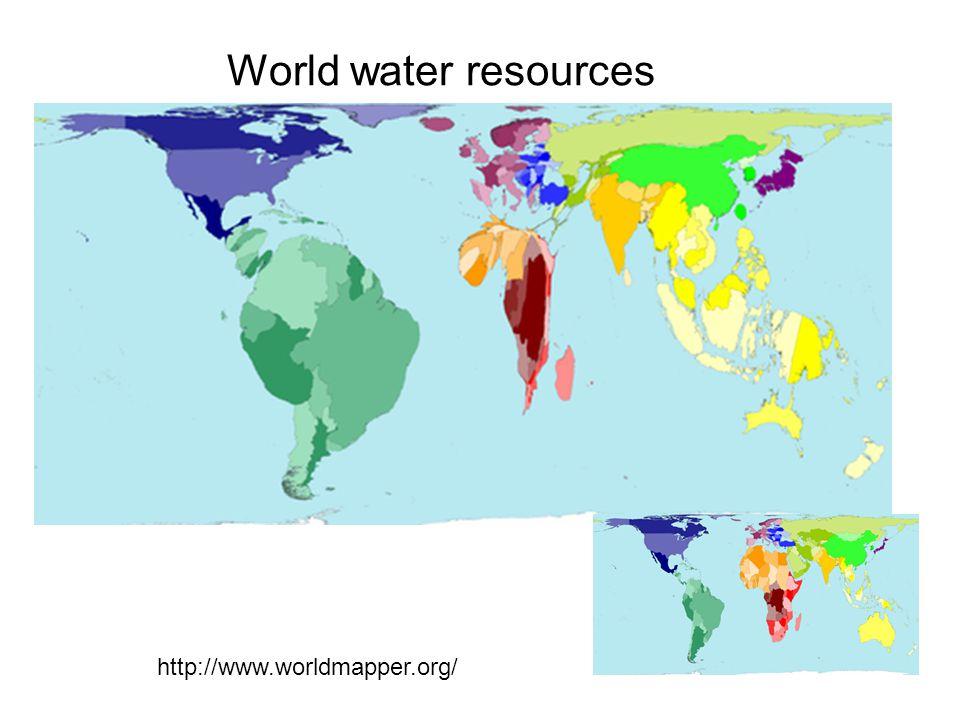 World water resources http://www.worldmapper.org/