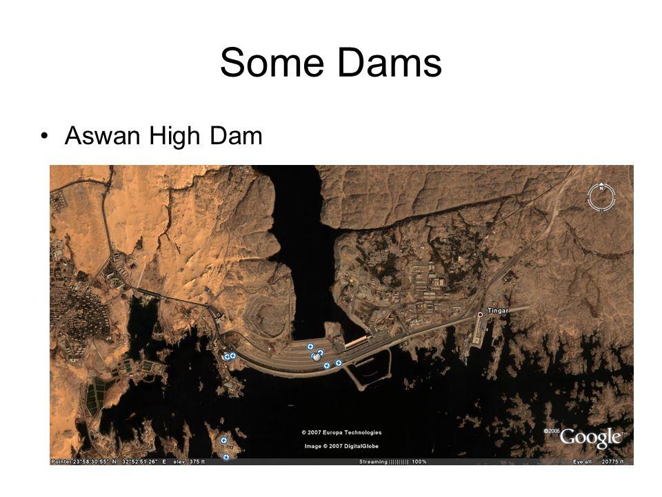 Some Dams Aswan High Dam