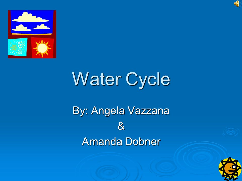http://www.enchantedlearning.com/subjects/oce an/Watercycle.shtml http://www.enchantedlearning.com/subjects/oce an/Watercycle.shtml http://www.enchantedlearning.com/subjects/oce an/Watercycle.shtml http://www.enchantedlearning.com/subjects/oce an/Watercycle.shtml This website is very kid friendly in that it is brief and to the point, has understandable pictures of the water cycle, and fun facts to interest kids in other things related to the water cycle.
