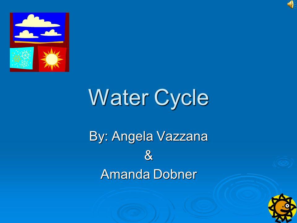 Water Cycle By: Angela Vazzana & Amanda Dobner