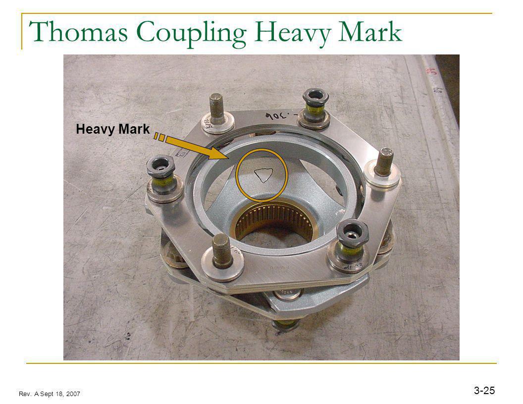 3-25 Rev. A Sept 18, 2007 Thomas Coupling Heavy Mark Heavy Mark
