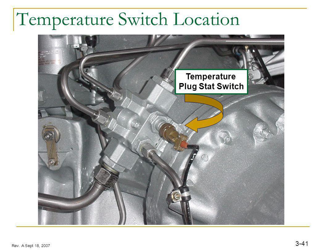 3-41 Rev. A Sept 18, 2007 Temperature Plug Stat Switch Temperature Switch Location