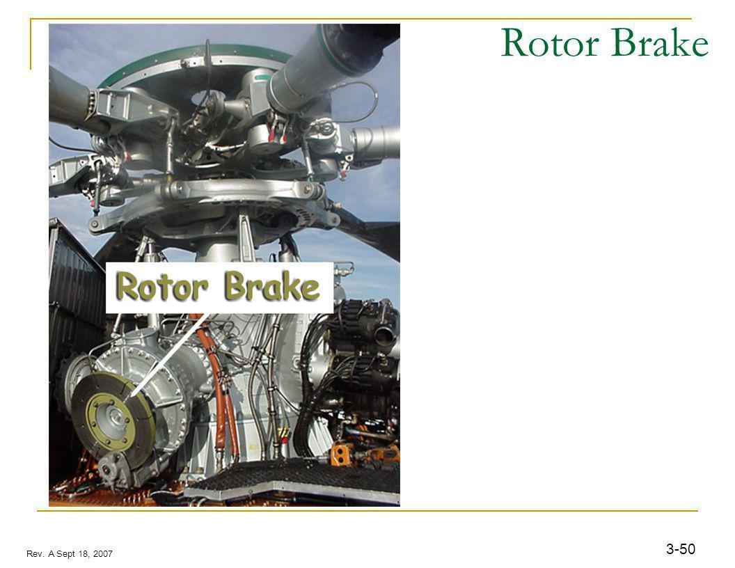 3-50 Rev. A Sept 18, 2007 Rotor Brake