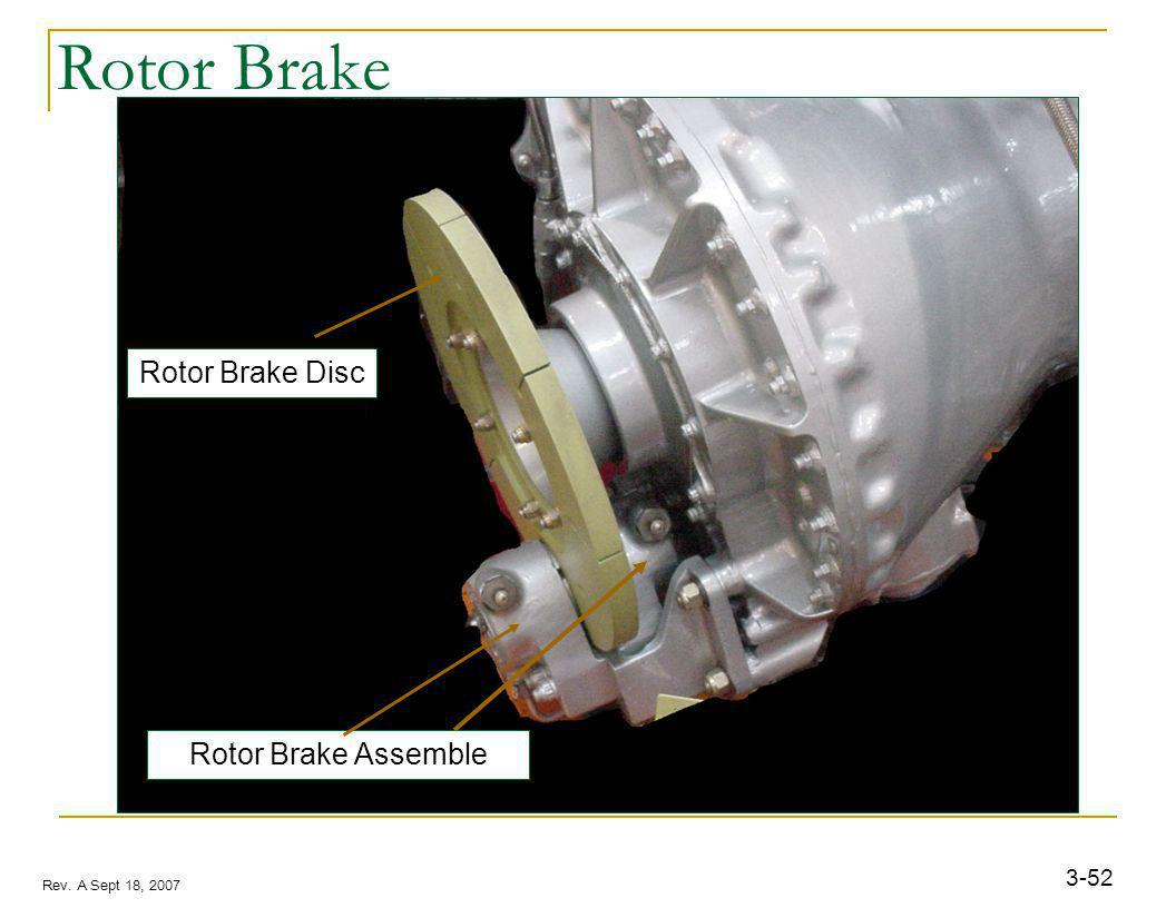 3-52 Rev. A Sept 18, 2007 Rotor Brake Rotor Brake Assemble Rotor Brake Disc
