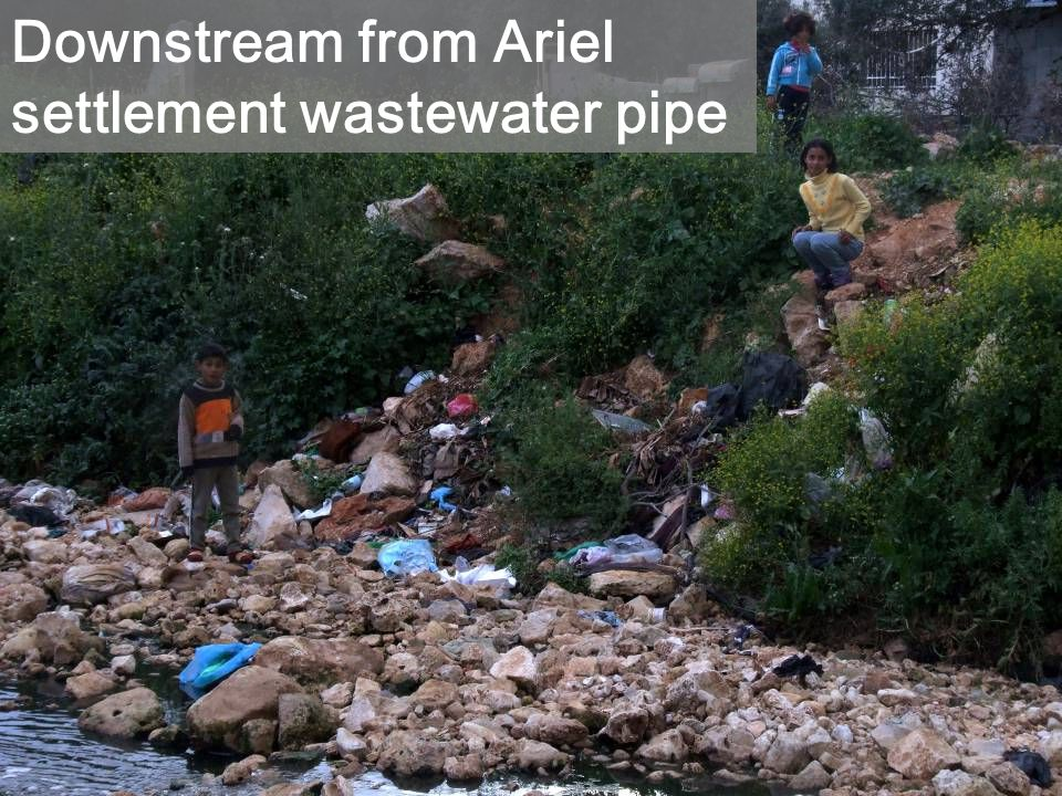 Downstream from Ariel settlement wastewater pipe