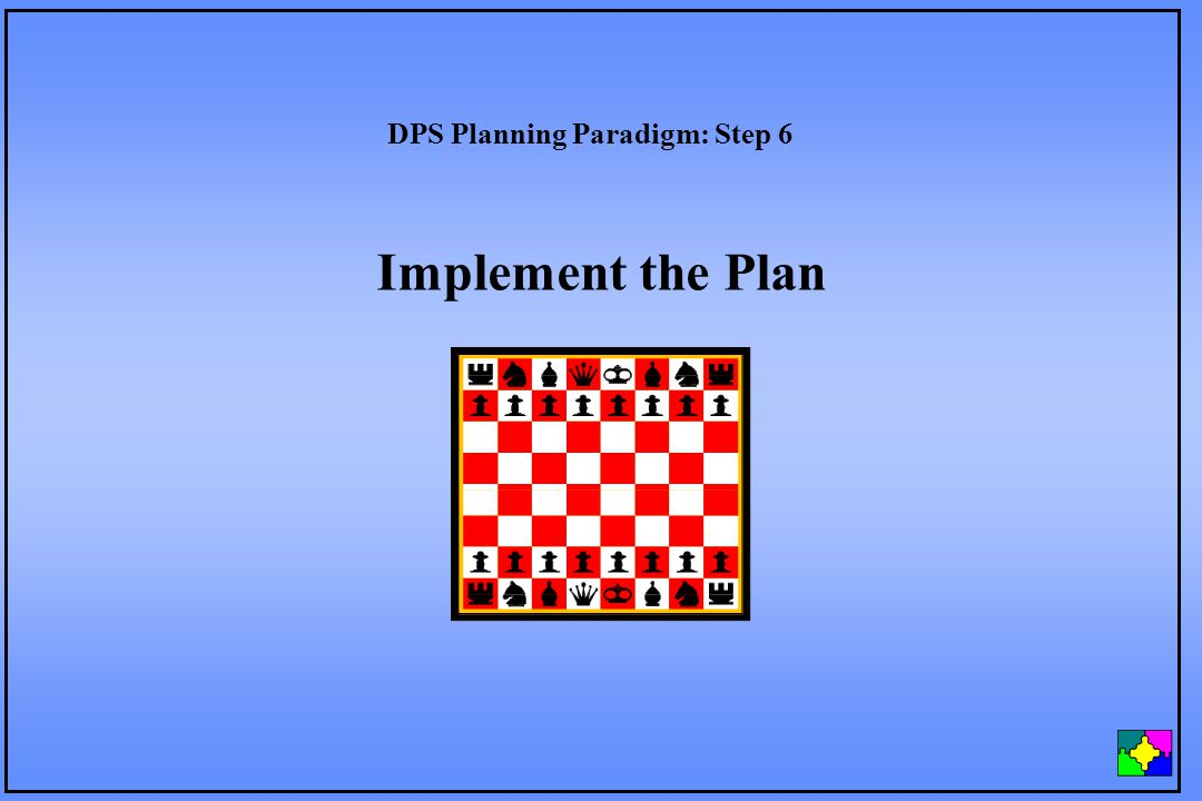 Implement the Plan DPS Planning Paradigm: Step 6