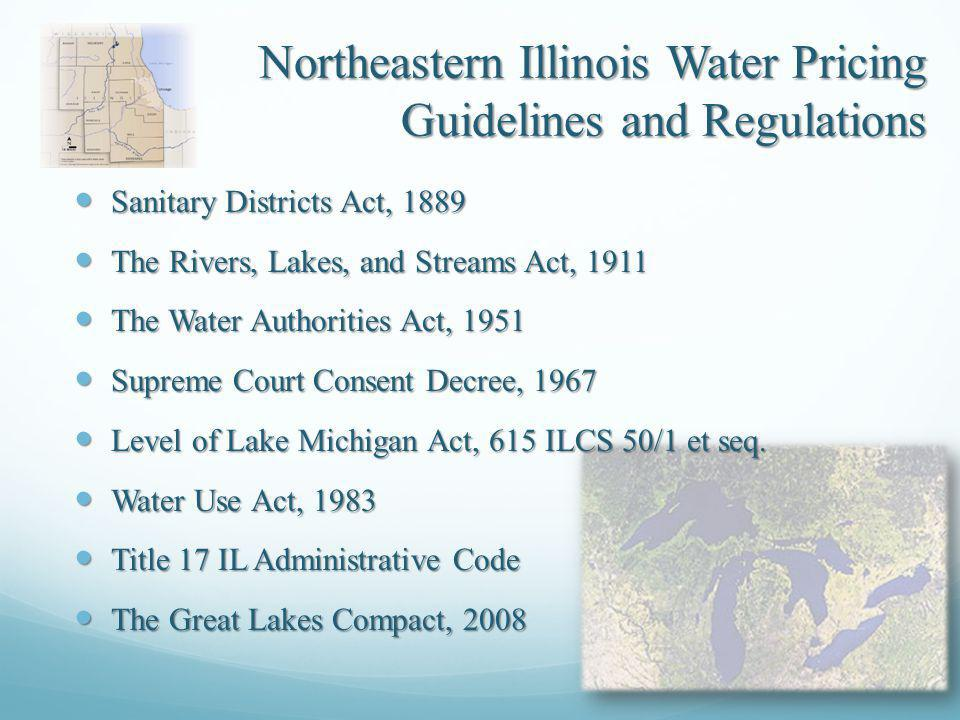 Northeastern Illinois Water/Wastewater Rate Survey The 11-county northeastern Illinois regional water planning area is served by about 420 active water supply systems (U.S.