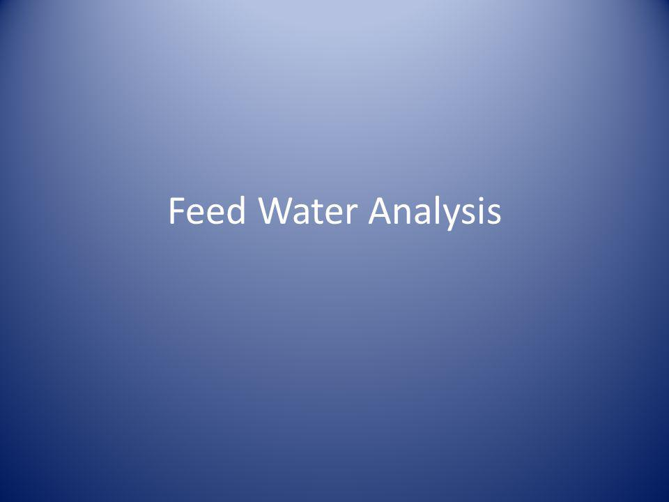 USP Purified Water System – Feed Water Analysis Regulated Items - Testing – Municipality.