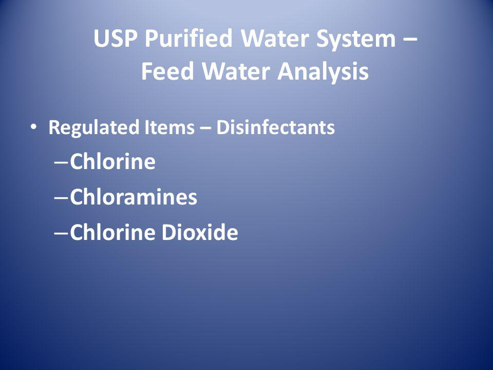 USP Purified Water System – Sanitization Provisions Execution – Storage & Distribution – Ozonation – Periodic Hot Water – Membrane Filtration discouraged – Chemical Sanitization with 1% solution of Hydrogen Peroxide and Peracidic Acid annually – Dynamic-Stagnant-Dynamic Procedure
