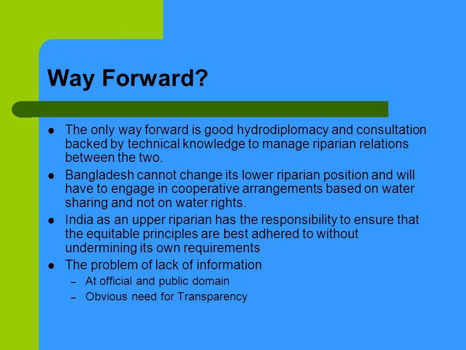 Way Forward.