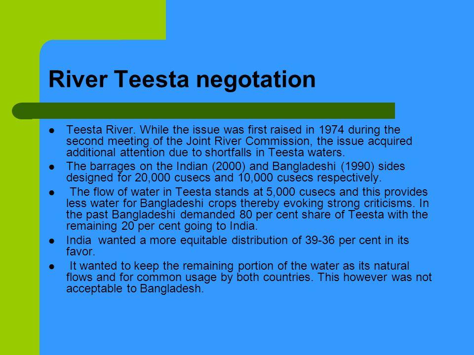 River Teesta negotation Teesta River.
