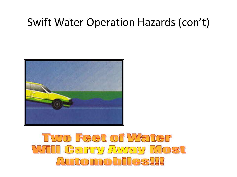 Swift Water Operation Hazards (cont)