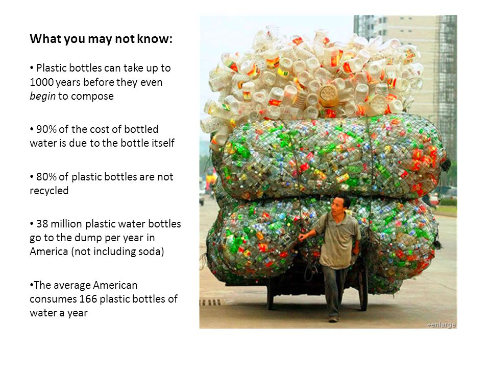 Overwhelming usage of water bottles within the U.S.