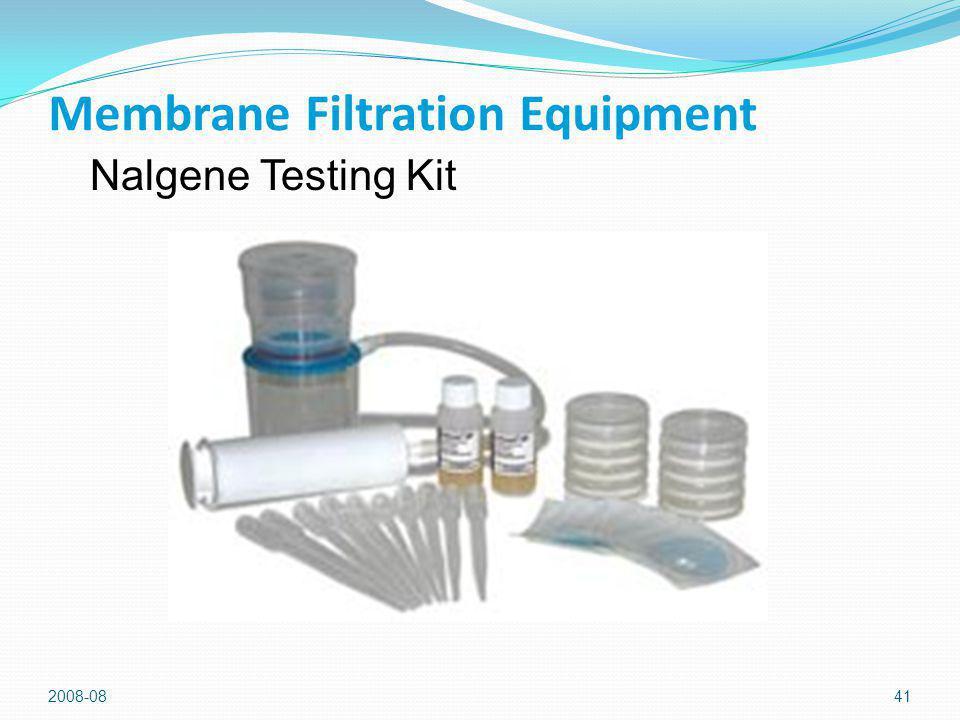 2008-0841 Membrane Filtration Equipment Nalgene Testing Kit