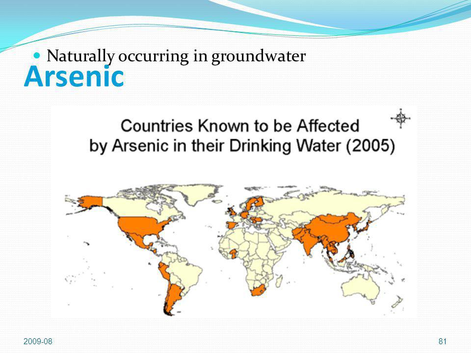 2009-0881 Arsenic Naturally occurring in groundwater