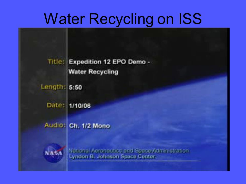 Water Recycling on ISS