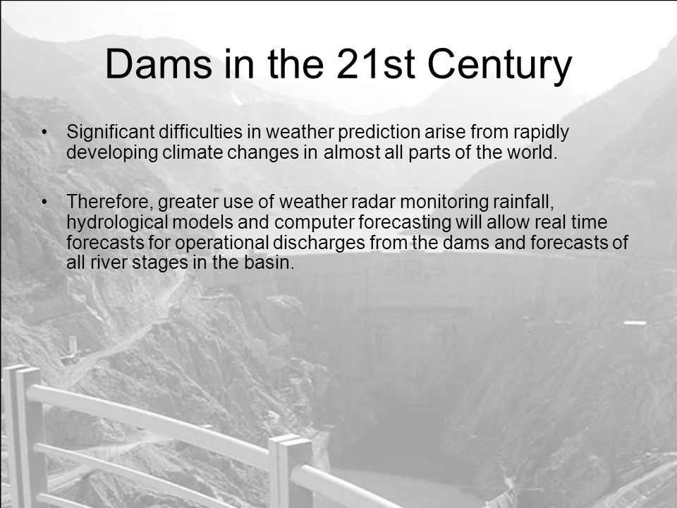 Significant difficulties in weather prediction arise from rapidly developing climate changes in almost all parts of the world.