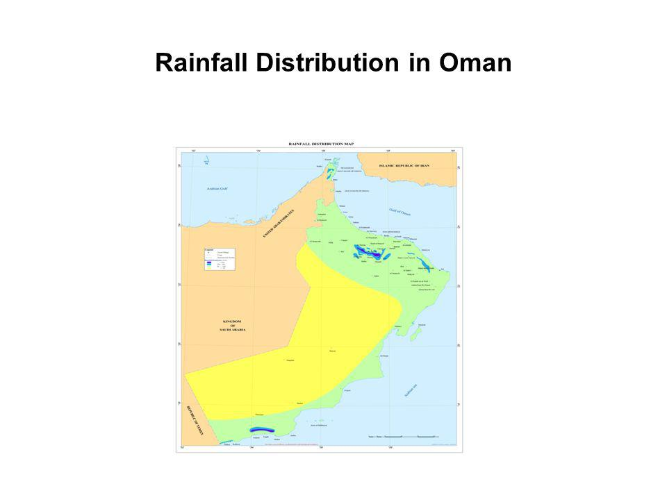Rainfall Distribution in Oman