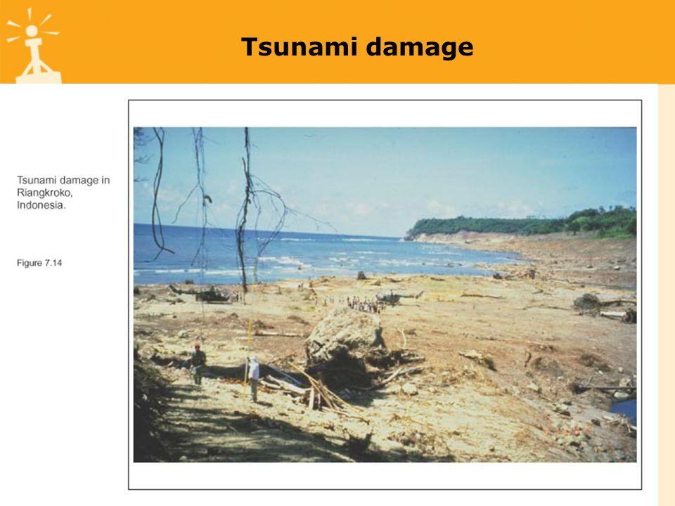 Tsunami damage