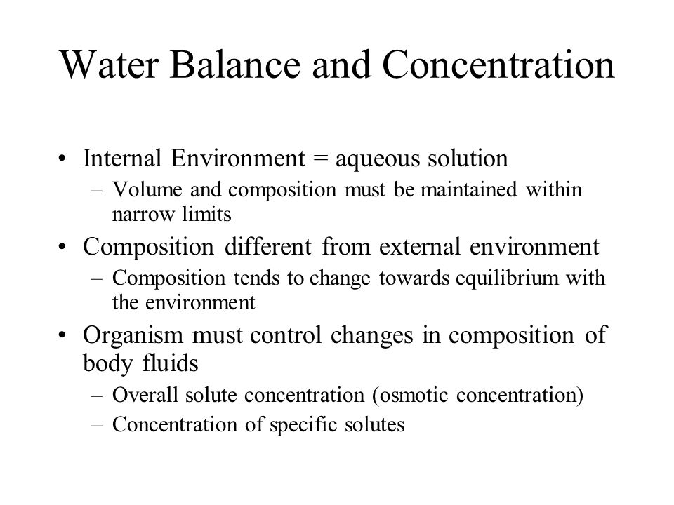 Water and Osmotic Regulation Chapter 8
