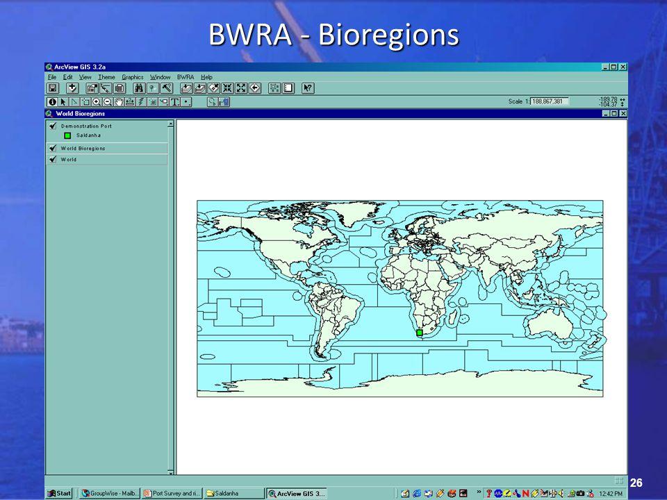 26 BWRA - Bioregions