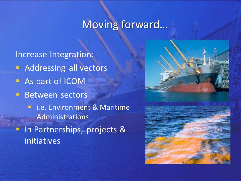 Moving forward… Increase Integration: Addressing all vectors As part of ICOM Between sectors i.e.