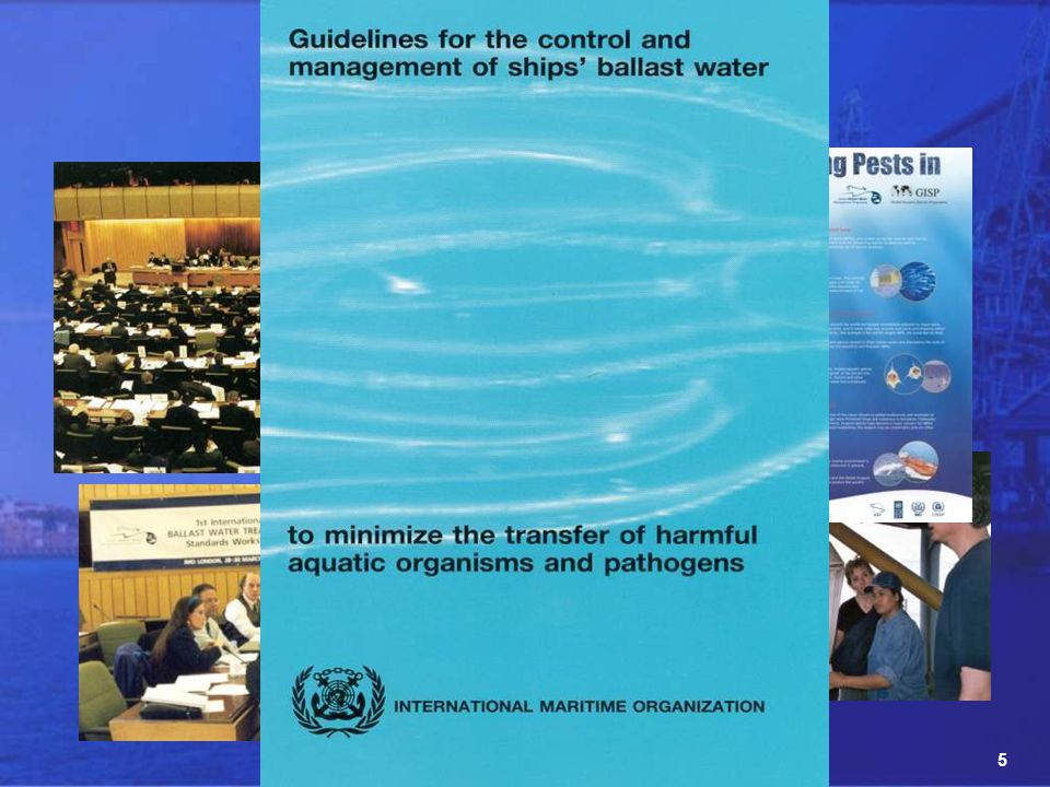 36 Short Courses: Introductory Course on Ballast Water Management Management of Invasive Species in Marine & Coastal Environments Training Course on Port Biological Baseline Surveys Capacity Building