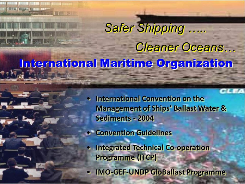 6 International Maritime Organization Safer Shipping …..