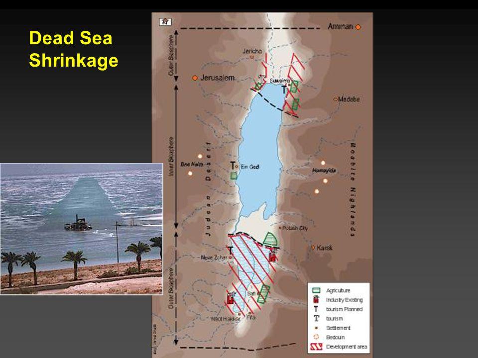 Cunningham - Cunningham - Saigo: Environmental Science 7 th Ed. Dead Sea Shrinkage