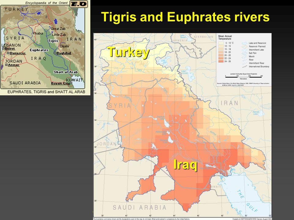 Cunningham - Cunningham - Saigo: Environmental Science 7 th Ed. Tigris and Euphrates rivers Turkey Iraq