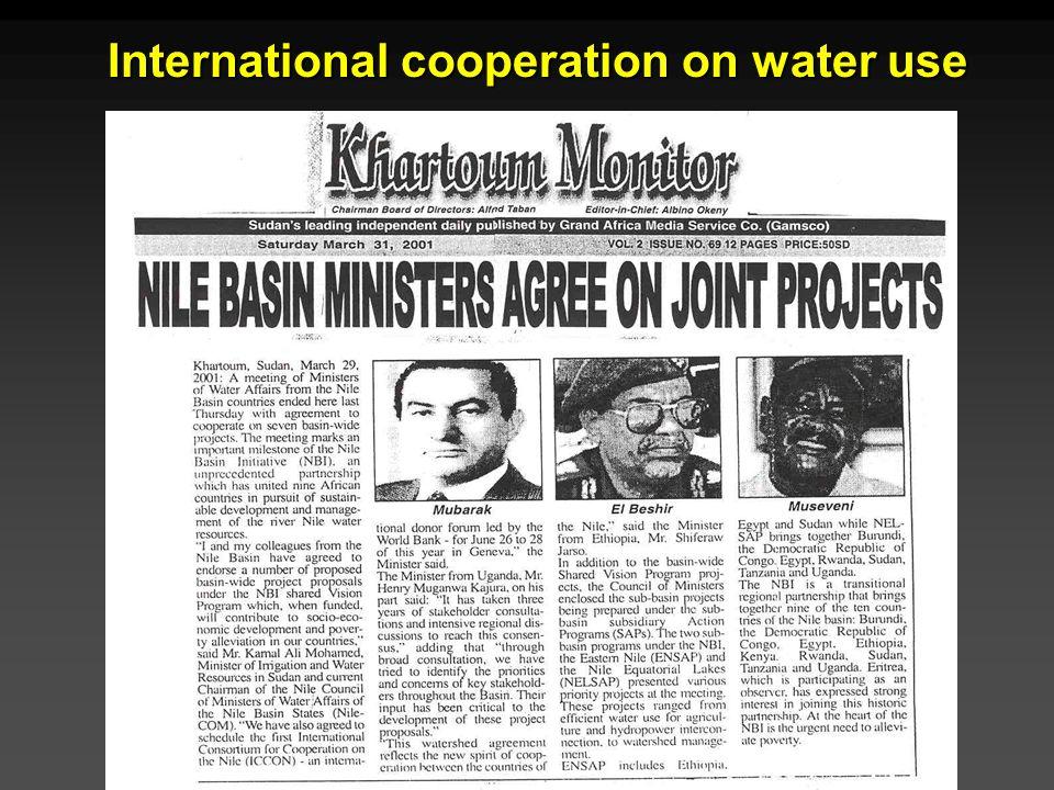 Cunningham - Cunningham - Saigo: Environmental Science 7 th Ed. International cooperation on water use
