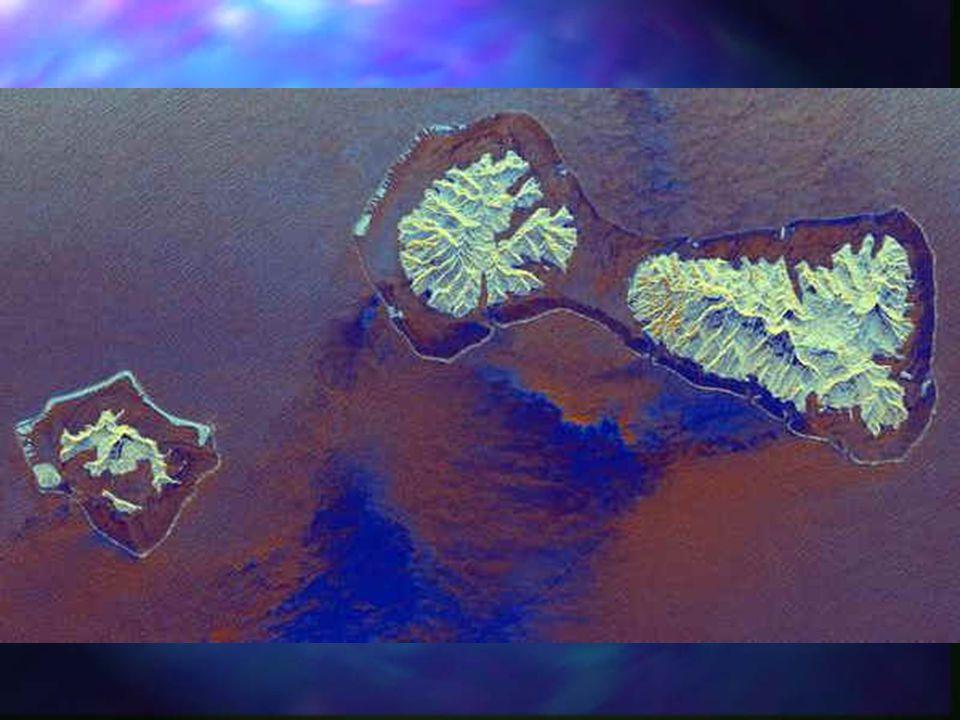 Fringing Reef Bora Bora NASA JPL Satellite: Space Shuttle Sensor: SIR-C/X-SAR